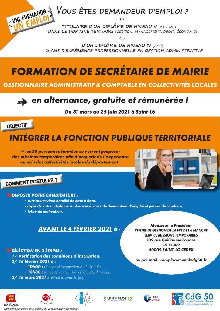 publicité formation secrétaire de mairie