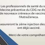 vaccination astra zeneca réservée uniquement pour la 2nde dose